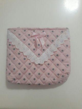 💛Pink Lace/Ribbon Cosmetic Pouch