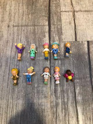 Polly pocket dolls lot 10
