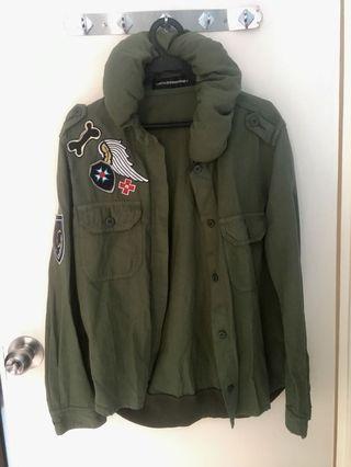 Merci Beaucoup深綠軍裝女裝外套