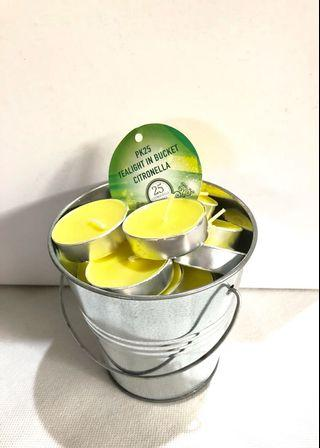 25pcs Scented Candles in bucket