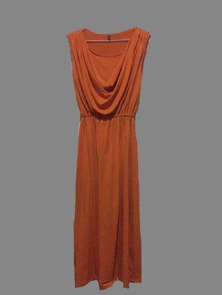 long dress bahan tebal