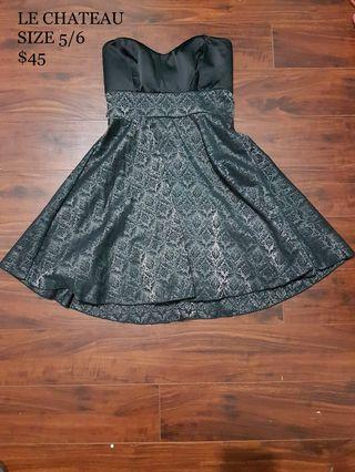Le Chateau Semi-Formal Black/Pattern Dress