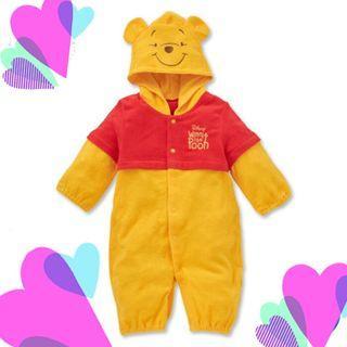 西松屋disney winnie the pooh baby (新生兒)夾衣 日本代購