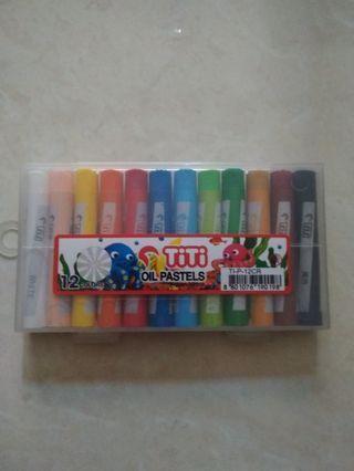 Crayon Titi Oil Pastel 12 Colors