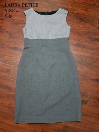 Grey Professional Work Dress Laura Petite