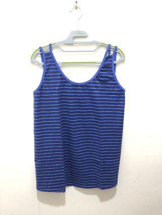 Spring/Bove Blue stripes sleeveless top