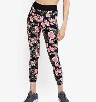 BNWT CottonOn summer core 7/8 jungle floral highwaisted active training tights