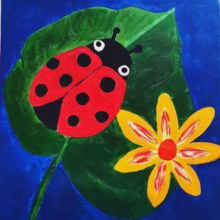 Ladybird Acrylic Painting