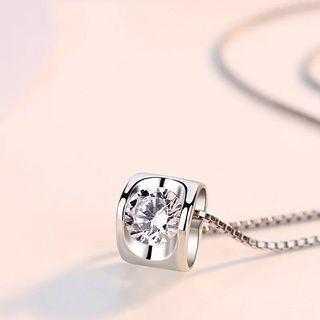S925 silver hidden love Swarovski Element necklace