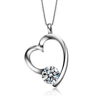 S925 Silver My Love Heart Swarovski Element Necklace