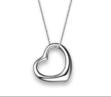 S925 Silver Simple Love Heart Necklace