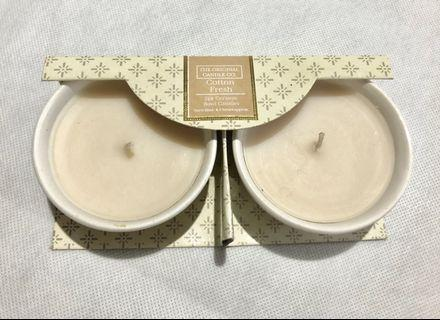 2pcs Cotton Scented candle in ceramic