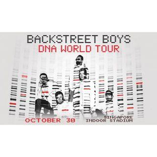 BACKSTREET BOYS DNA World Tour Singapore CAT 1 CAT 2 Concert Tickets