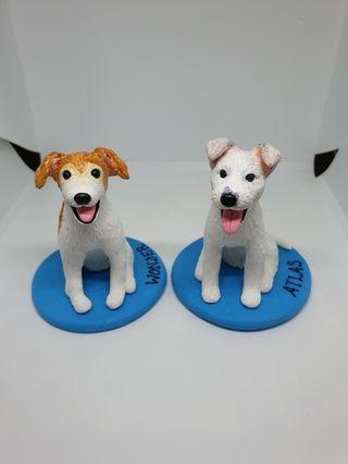Customised dog figurine made of polymer clay