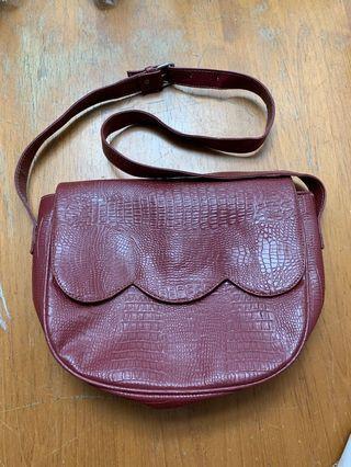 Red Medium Sling Bag