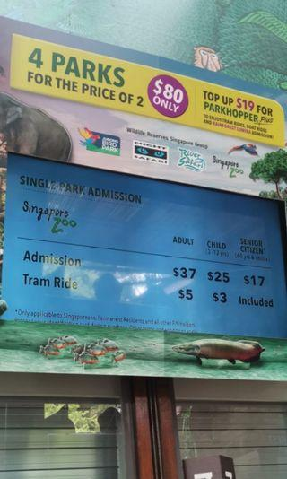 Singapore Zoo Tickets Without Tram