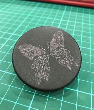 Line Art Butterfly Badge (Black)