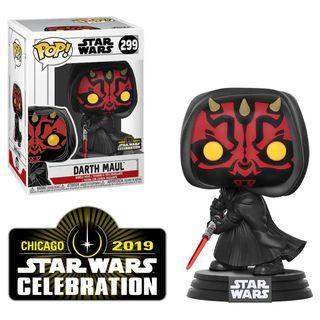 "Funko POP! Star Wars Darth Maul Star Wars Celebration Exclusive ""Official Sticker"" #299"