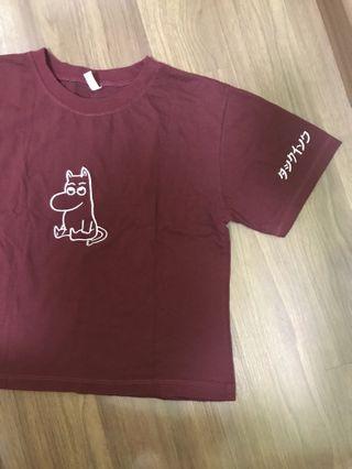 ulzzang moonin t-shirt