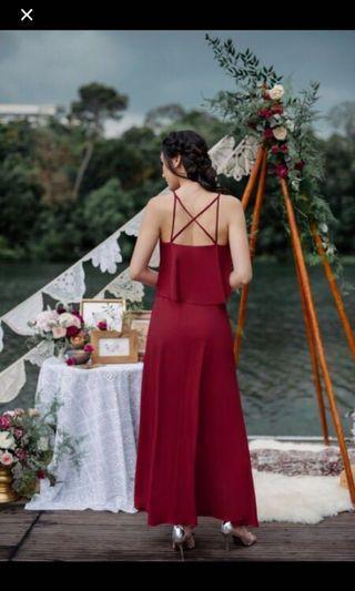 Thread Theory Wine Red Dress