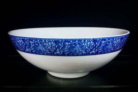Porcelain Bowl - Chinese Blue/White (Round W25.5 x H9.5 cm)