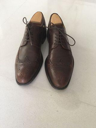 Brown Berwick Leather Shoes