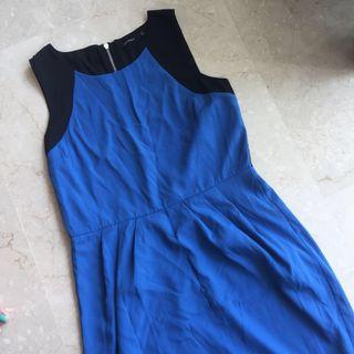 Plus size blue formal work dress