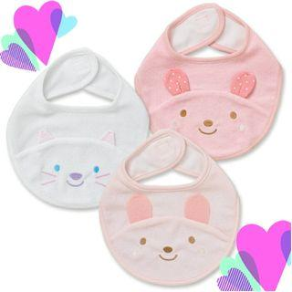 西松屋動物造型口水肩 (一套三件) 日本代購