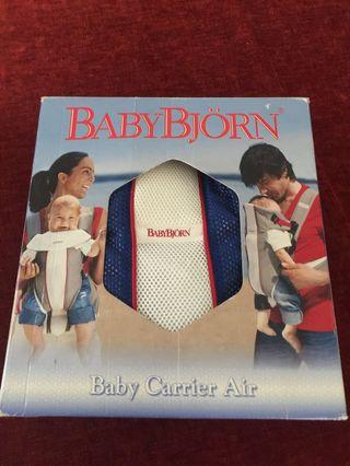 AUTHENTIC BABY BJORN AIR CARRIER BLUE AND WHITE (Preloved)