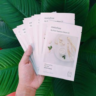 Innisfree My Real Squeeze Mask Ginseng x 9pcs