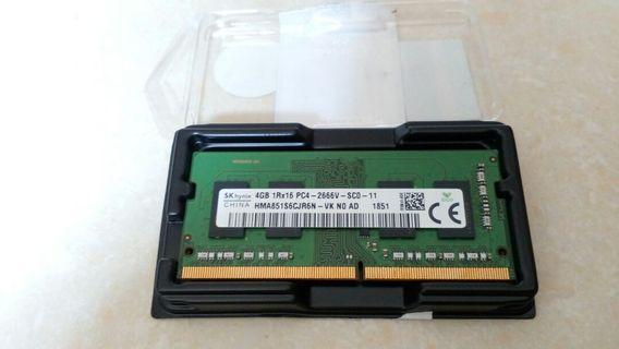 (全新) Hynix ddr4 4gb notebook ram 記憶體 PC4 21300 (DDR4 2666)