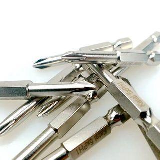 S2電動批頭螺絲刀十字一字Y型U形六角風批頭強磁批頭
