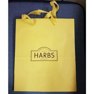 🚚 全新日本限定HARBS鵝黃色中型紙袋