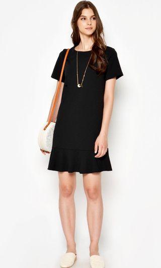 BNWT LAB Verina Dropwaist Dress Black