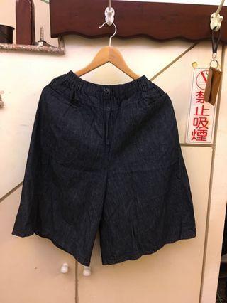 🚚 出清折扣 夏季寬版短褲 深藍