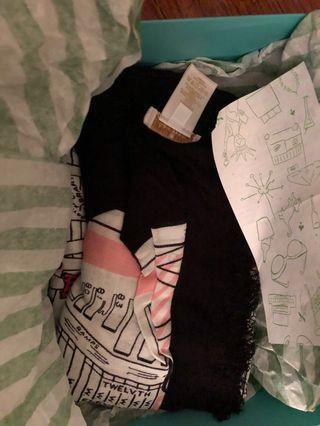 KATE SPADE NY MAP RECTANGLE MAP SCARF