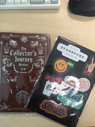 Starbucks patch and card album
