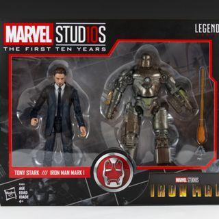 全新Marvel Legends Iron Man Mark 1 & Tony Stark
