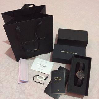 Daniel Wellington Petite Ashfield 28mm Black Rosegold ORIGINAL