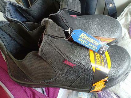 Safety shoes Krisbow kulit asli