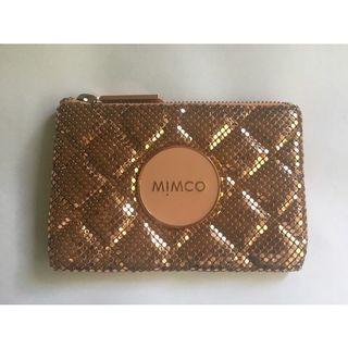 Mimco Mesh Mash Pouch Rose Gold