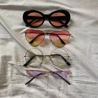 (TAKE ALL) Kacamata Tumblr BTS Love kekinian ungu korea kang daniel bulat bundar sunglasses