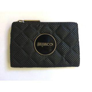Mimco Mesh Mash Pouch Black and Silver