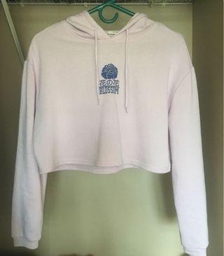 Bluenotes lilac cropped hoodie