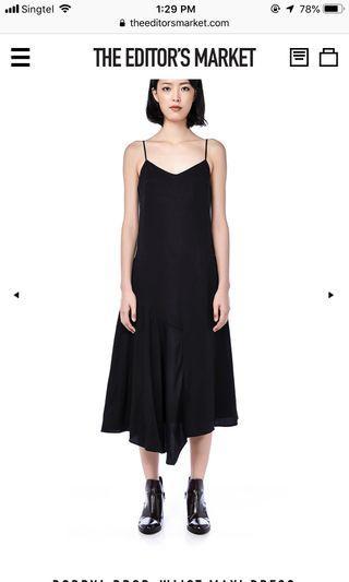 DOBRYA black midi dress