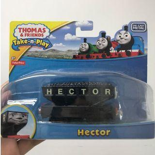 (盤點清貨-最後二件)Mattel 正版 Thomas and friends take-n-play 火車玩具 hector 湯馬士火車頭 玩具