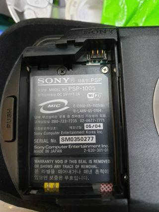 Original Sony PSP with memory stick