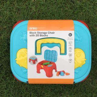 Block storage chair