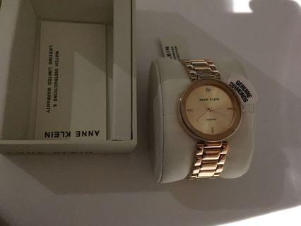 Anne Klein Rose Gold Diamond Accented Watch