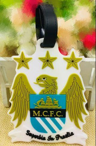 Manchester city F.C luggage tag